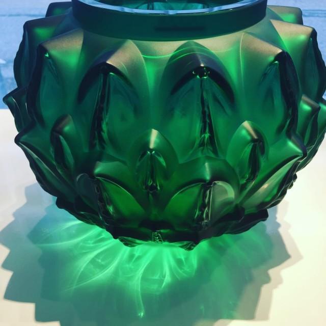 Lalique Vase aus der serie Languedoc