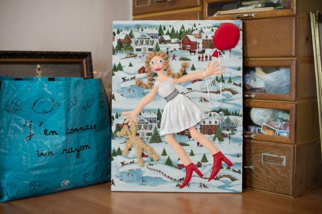 textiles Bild von Marianne Pletscher Foto: Mike Flam