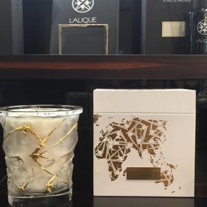 Luxeriös - Lalique Kerzen Vase Oceans Gold.