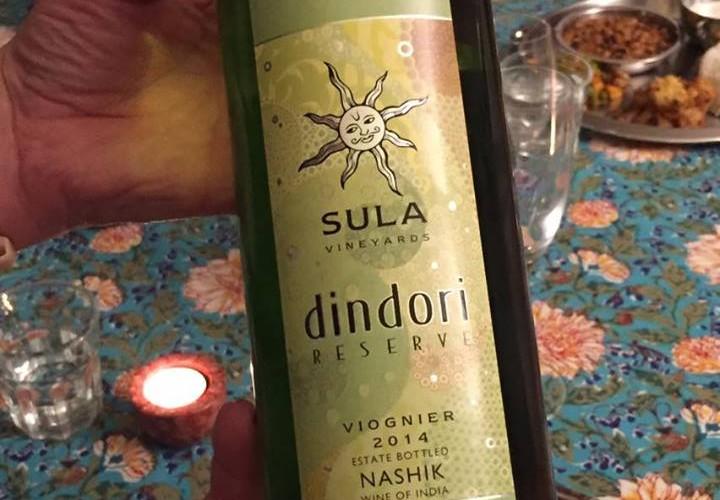 Das erste Mal indischen Wein probiert.