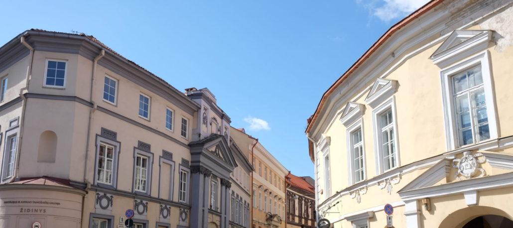 Wunderschöne Altstadt in Vilnius.
