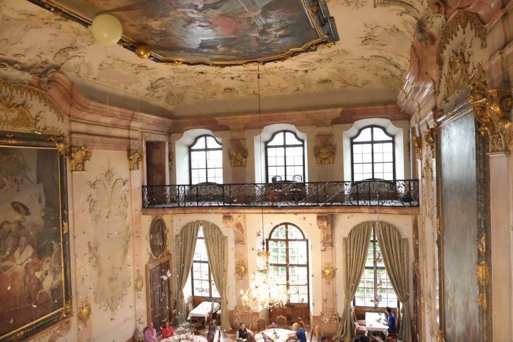 Mein Highlight - das Frühstück im grossen Saal. Schloss Leopoldskron.