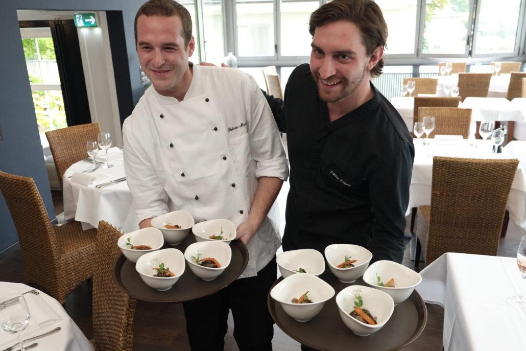 Zwei Profis am Werk - Fabien Kaiser und Roberto Mastrangelo.