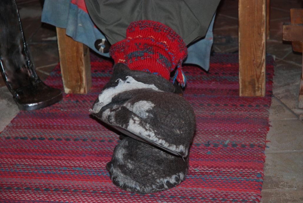 Diese Schuhe ...... im Norden muss man sich warm anziehen, das gilt auch für Santa Claus.