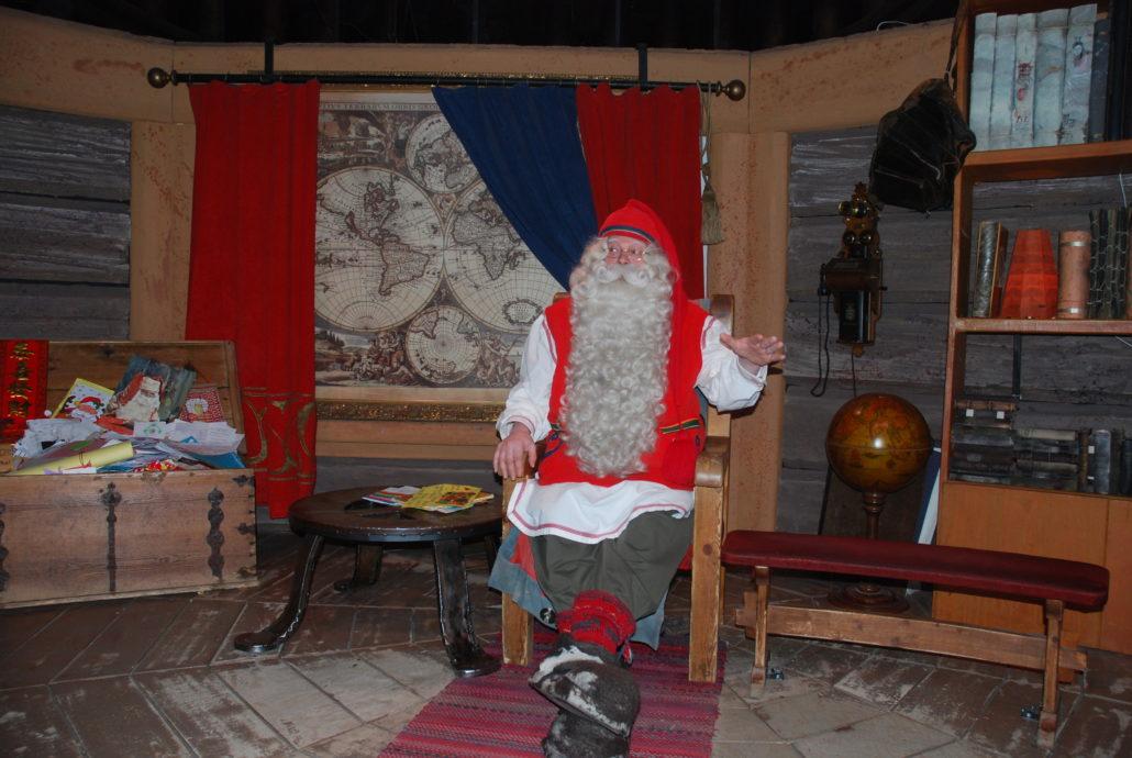 Zu Besuch beim Weihnachtsmann in Rovaniemi, Actic Point
