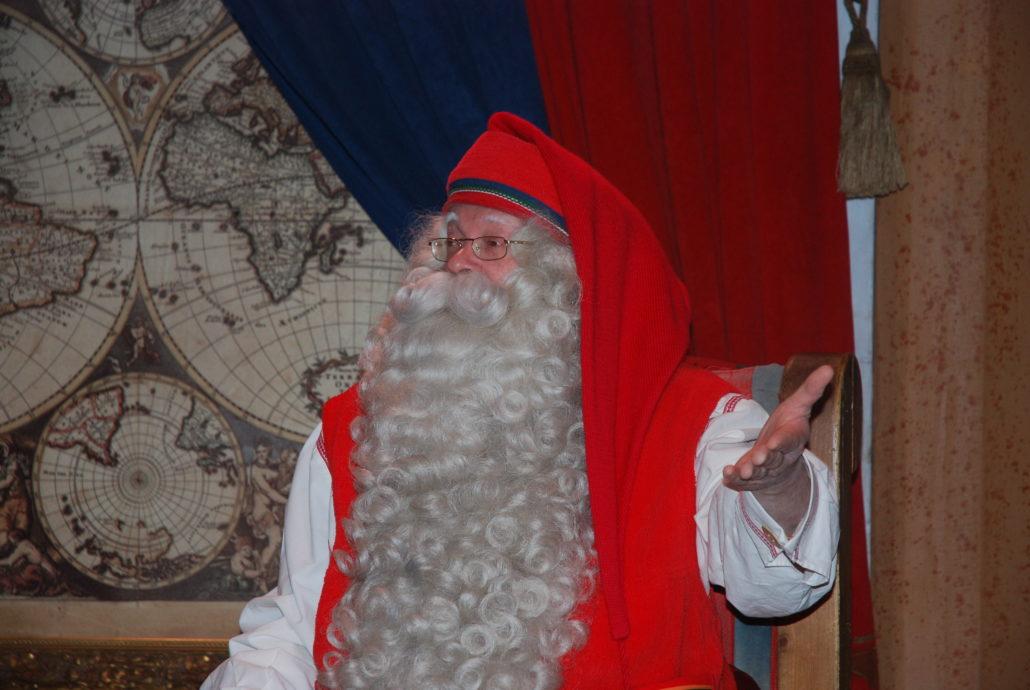 So stellt man ihn sich vor und so ist er auch, der Weihnachtsmann.