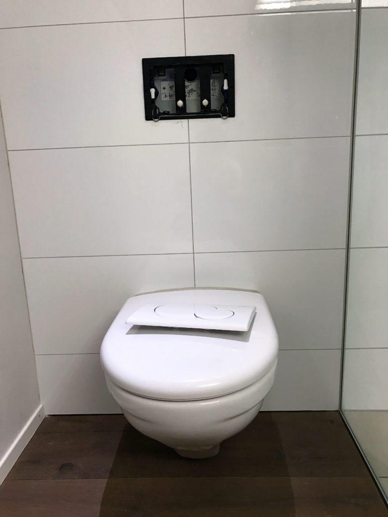 Zuesrt muss der alte WC Decklel enrfernt werden, bevor das AquaClean Tuma montiert werden kann.
