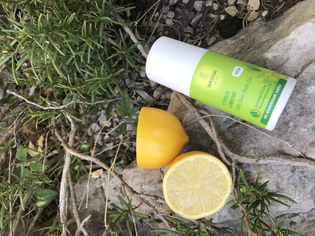 Ein Unisex Produkt, natürlich und ohne Aluminiumsalze. Das Citrus Weleda Roll-On Deo.