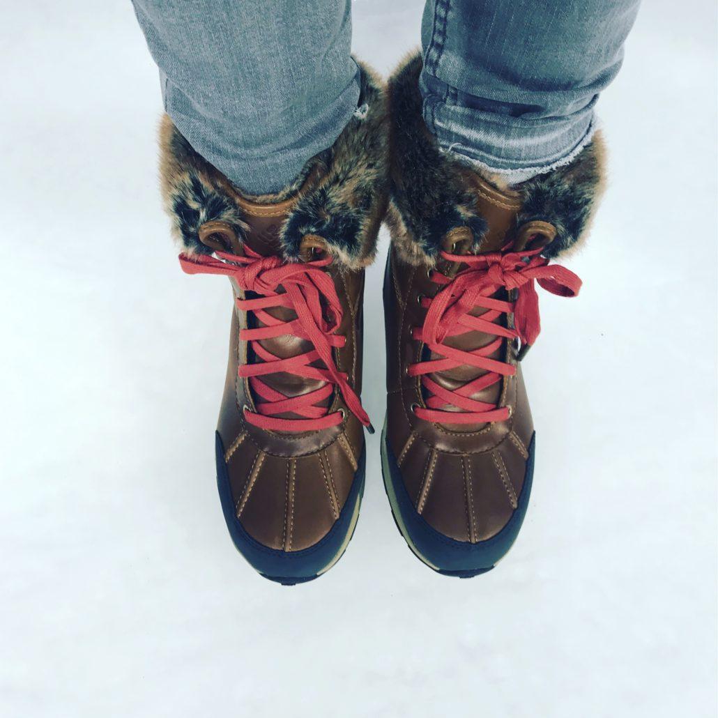 Meine Grösse gefunden - Walk on Ice mit dem neuen Women's Bangor Omni-Heat Michelin Boot von Columbia.